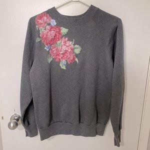 Vintage I.C.U Sweatshirt with peony floral patch